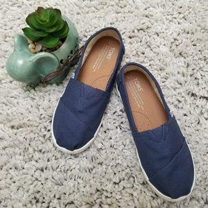 Toms Canvas Classic Navy Blue Shoes